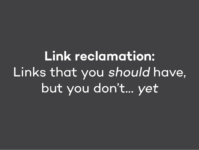 link reclamation