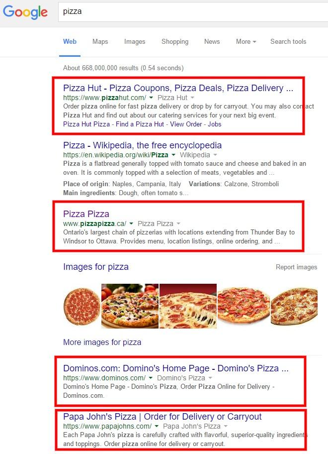 pizza google search