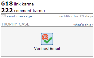 reddit verified email trophy