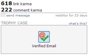 reddit verified email trophy