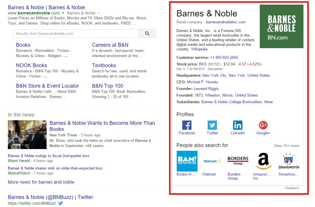 barnes and noble knowledge graph