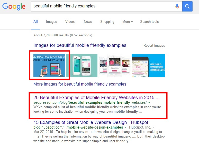 beautiful mobile friendly examples
