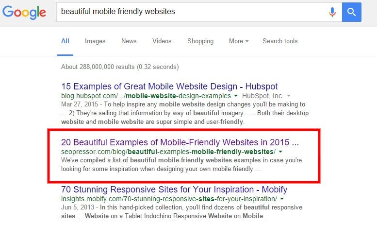 beautiful mobile friendly websites