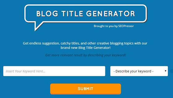 seopressor's blog title generator