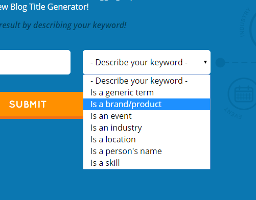 describe your keyword