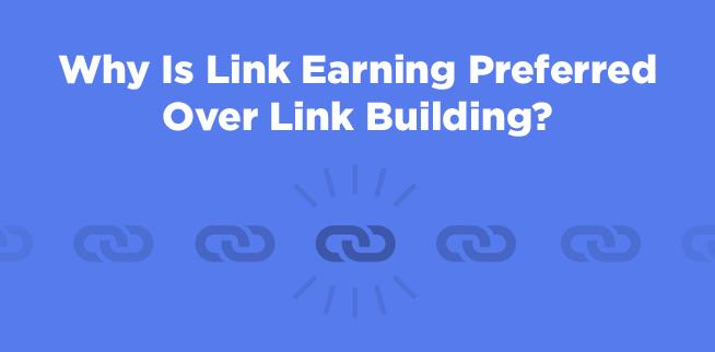link earning vs link building