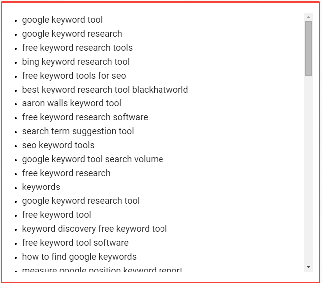 LSIGraph is a free and easy to use tool to get LSI keyword suggestions.