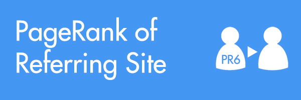 another local search ranking factor mentioned in this patent is the pagerank of referring site