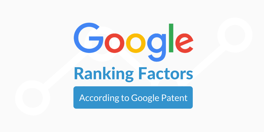 ranking factors according to google patent