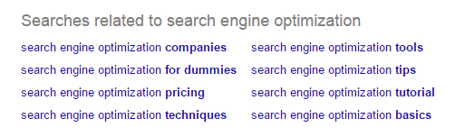 Google generate the related search suggestions based on popular queries made by users.