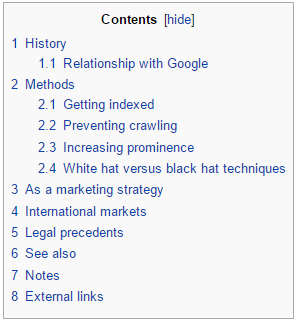 Items listed in the table of contents of Wikipedia articles can give you more ideas on topics revolving your keyword.