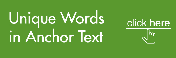 words in anchor text