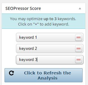 seopressor 3 keywords