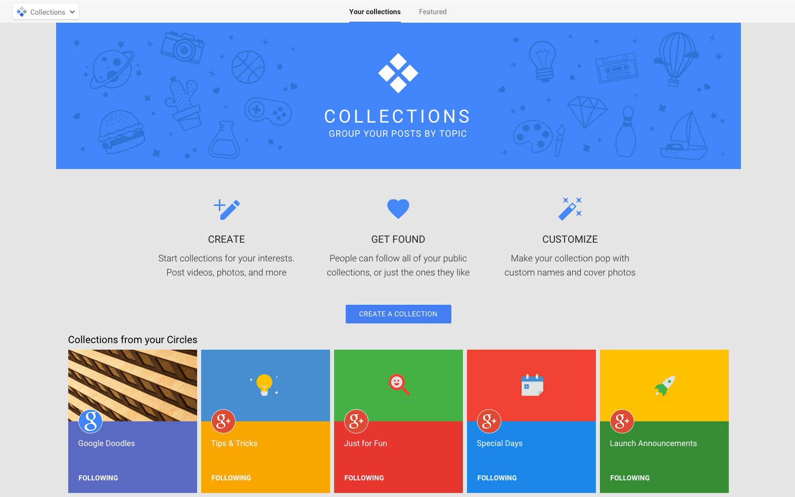 google collections