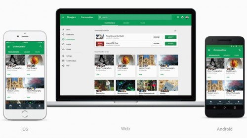 The new Google Plus is designed to look great across devices.