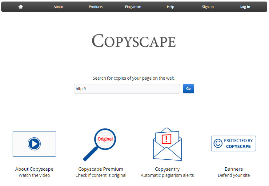 Copyscape is a site that allows you to check if there's any websites that plagiarise your content.