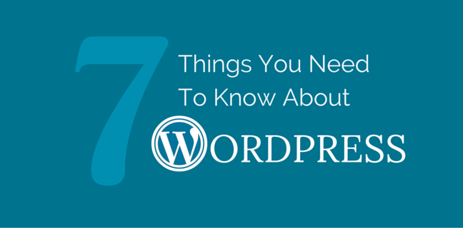 7 Things You Need To Know About WordPress
