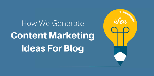 blog marketing ideas