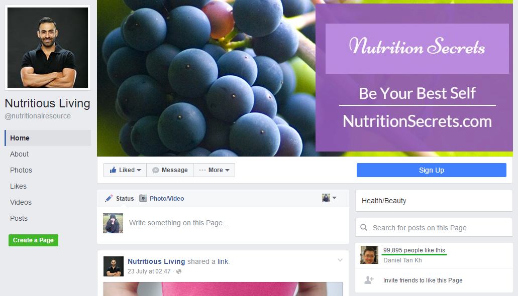 Creating a niche page is one of many good social media strategy examples