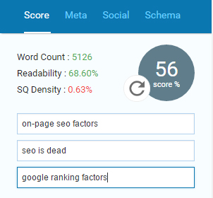 SEOPressor Connect lets you optimize for up to 3 target keywords.