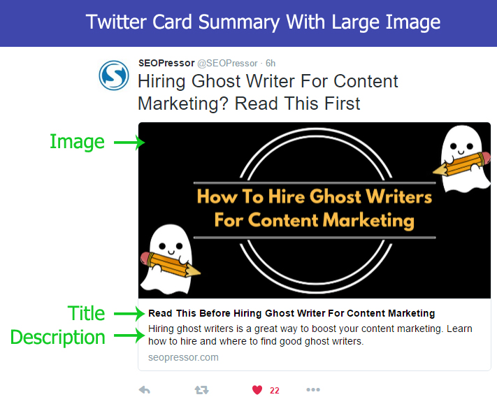 twitter card summary with large image
