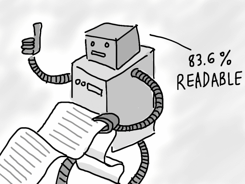 Readability scores are formulas used to measure how difficult it is to understand your content.