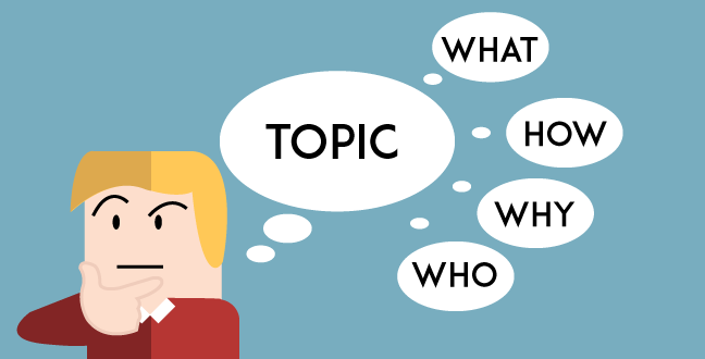 The first step in content planning is to think of a broad topic and its points