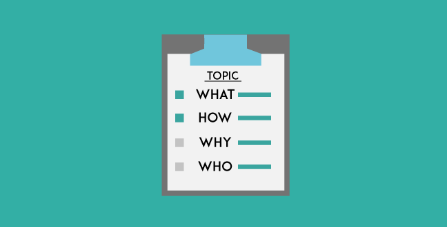 The second step of content planning is to list down those points as subtopics.