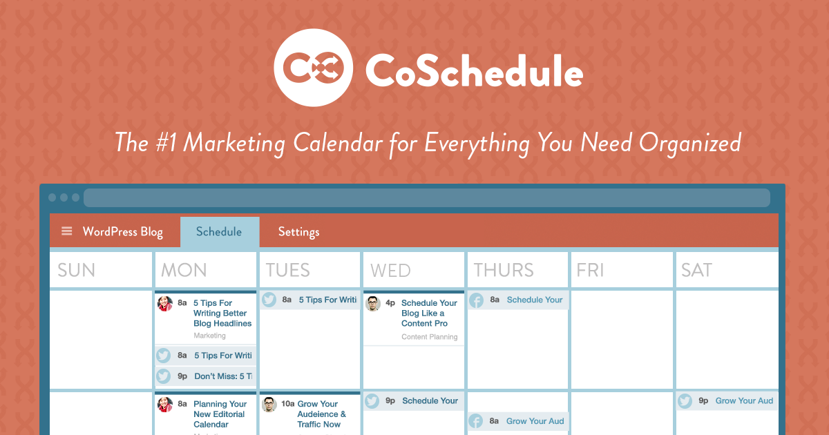 CoSchedule is another excellent example of inbound marketing tools to be used in planning phase