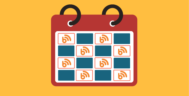 start blogging by preparing a publishing schedule