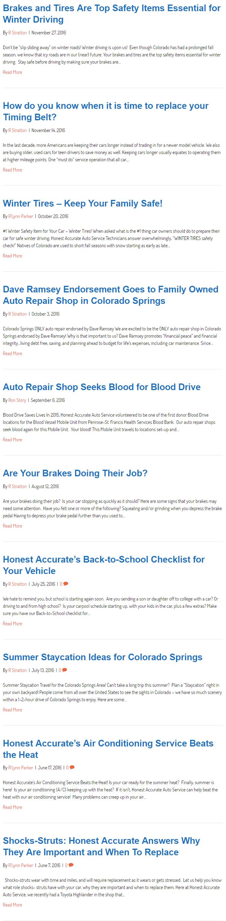 honest accurate auto blog