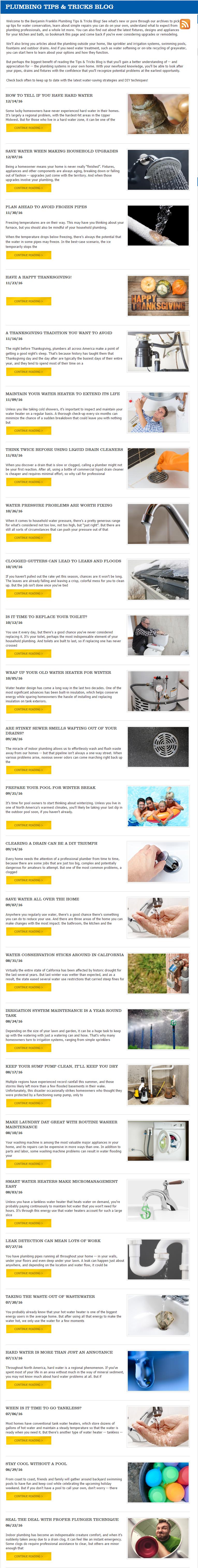 benjamin franklin plumbing blog
