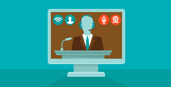 Webinar is a real-time online video sessions, usually with interactive Q&A session.