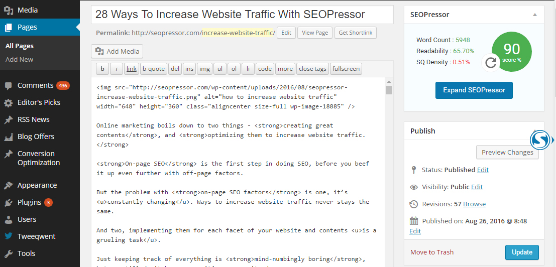 wordpress is one of many powerful but free inbound marketing tools