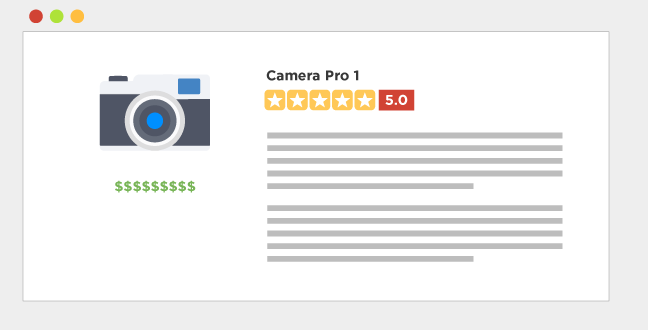 Reviews are a product-centric contents you can use to highlight the products you're promoting.