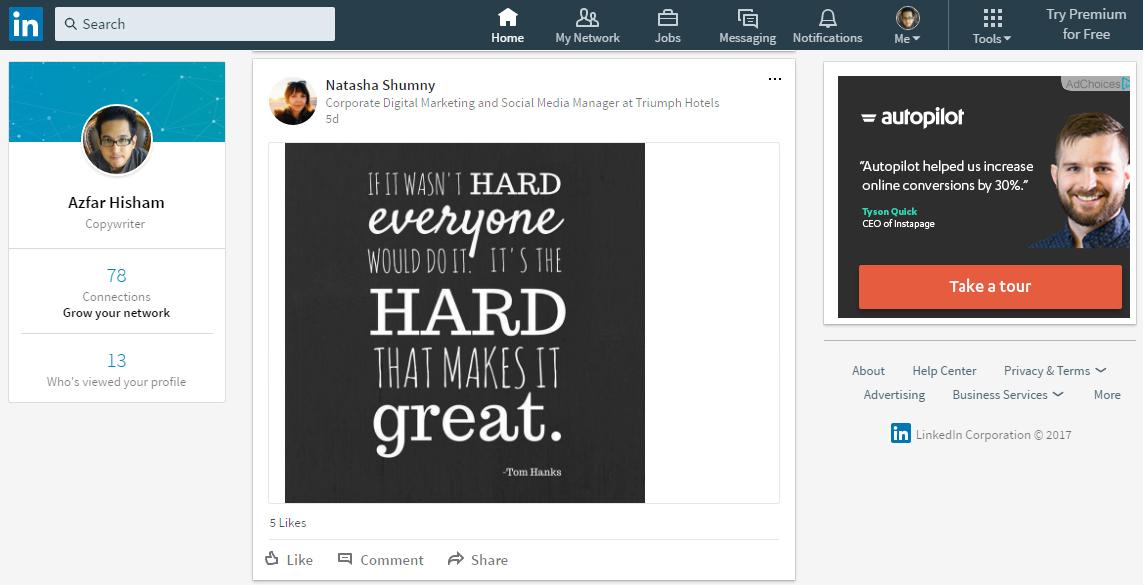linkedin new ui is designed following popular social media marketing trends