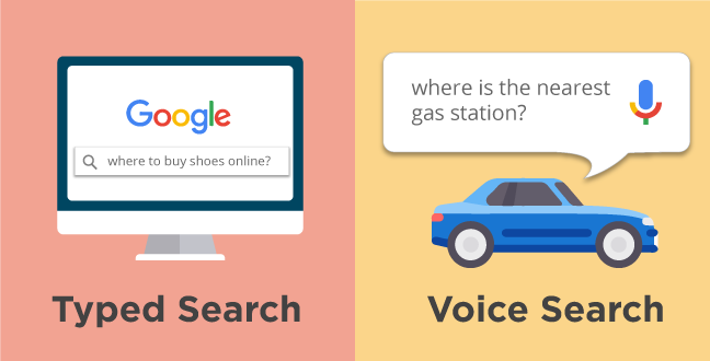 Voice search and typed search are used for different purpose for different intent.