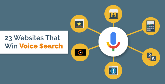 23 type of websites gets the most voice search benefits