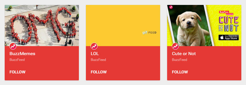 BuzzFeed is one of the major users of Google Plus Collections with millions of following.