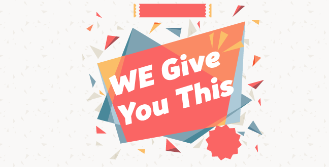 Give You is a benefit-oriented word, telling readers what they will gain upfront.