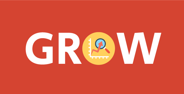 Grow is a catchy word that represent abundance and improvement.