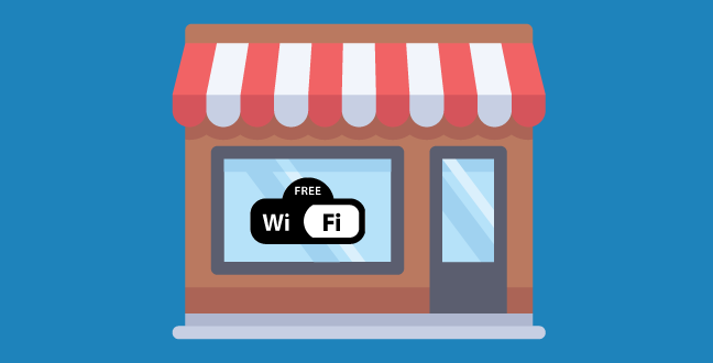 Offering free Wi-Fi not only attracts customers in, but also allows Google to detect visitors.