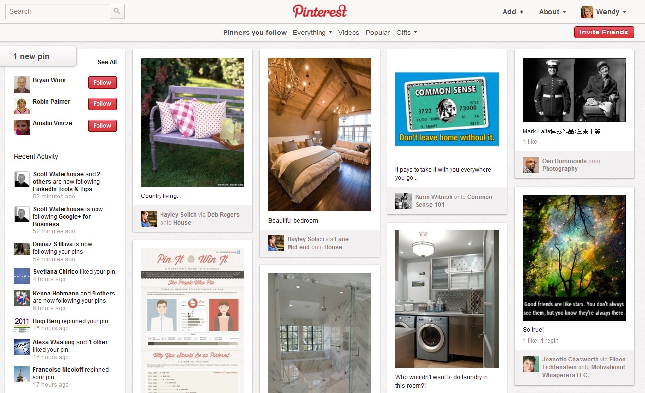 Pinterest is designed for sharing quality posts, and not so much for daily rants.