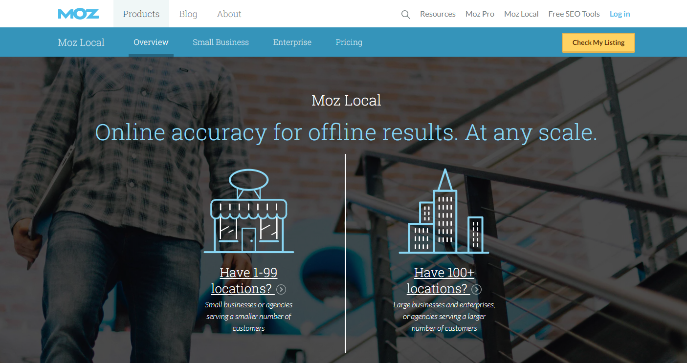 Moz Local Homepage