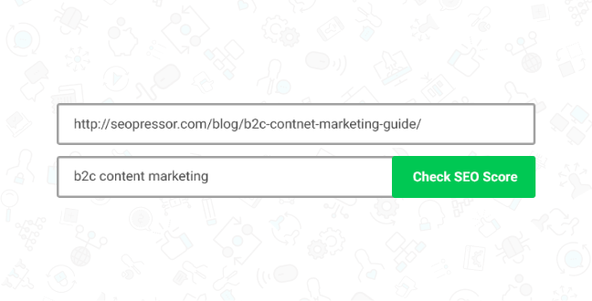 Start by inserting an URL and your target keyword