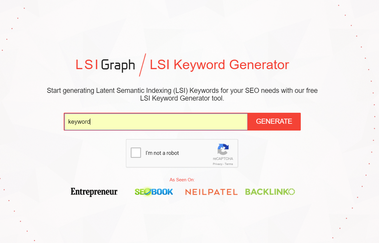 LSI Graph Landing Page