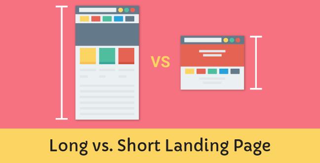Long Vs Short Landing Page