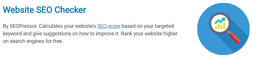 Website SEO Checker Tool