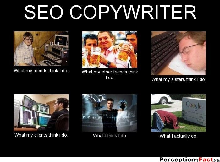 Fact of Being An SEO copywriter meme