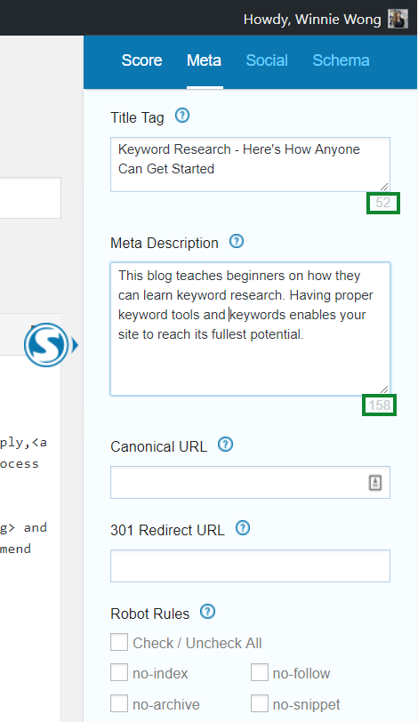 Step 2: Key in Your Title Tag and Meta Description